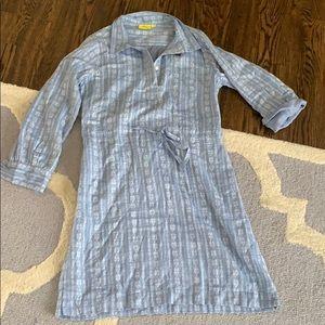 Roller Rabbit blue Ashan Dress S
